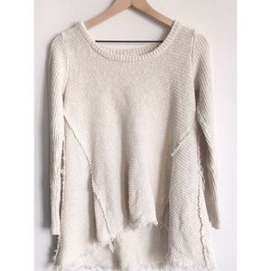 Like new slouchy Anthropologie cream sweater